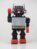 Rétro robot de jouet image stock