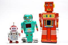 Rétro robot de jouet de bidon Photo libre de droits