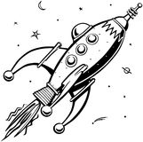 Rétro Rocketship illustration stock