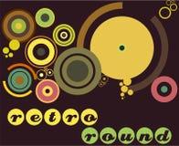 rétro ronds Image libre de droits