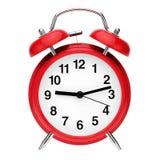 rétro rouge d'horloge d'alarme Images libres de droits