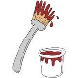 Rétro sauce de arrosage à brosse Photographie stock