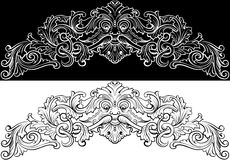 rétro scrollwork Images stock