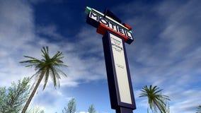 Rétro signe américain d'un motel Image libre de droits