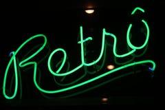 Rétro signe au néon Image libre de droits