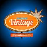 Rétro signe de bannière de motel de vintage Photo stock