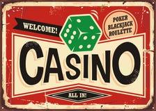 Rétro signe de casino illustration libre de droits