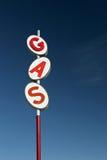 Rétro signe de gaz Photo libre de droits