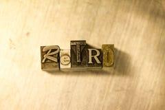 Rétro - signe de lettrage d'impression typographique en métal Photos stock