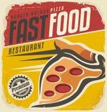 Rétro signe de pizza Photographie stock