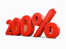 Rétro signe de pour cent rouge Images stock