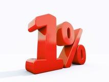 Rétro signe de pour cent rouge Photo stock