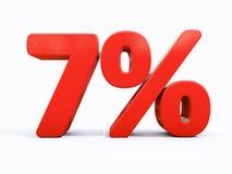 Rétro signe de pour cent rouge Image libre de droits
