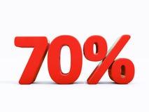 Rétro signe de pour cent rouge Photographie stock