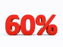 Rétro signe de pour cent rouge Photographie stock libre de droits