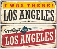 Rétro signe de voyage de Los Angeles illustration stock