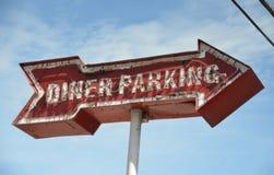 Rétro signe de wagon-restaurant photographie stock libre de droits