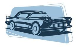 Rétro silhouette de voiture Photographie stock libre de droits