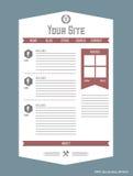 Site Web avec le chapelet Photographie stock libre de droits