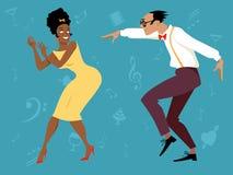 Rétro soirée dansante Photographie stock libre de droits