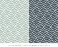 Rétro spirale sans couture Diamond Geometry Line de la couleur Set_300 du modèle 2 illustration de vecteur