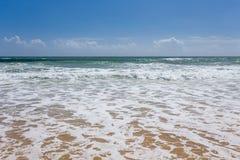 Rétro style de vague tropicale de plage image libre de droits