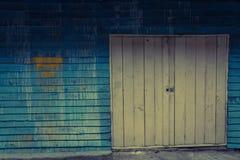 rétro style de vieille barrière en bois Photos libres de droits