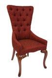 Rétro style Louis de chaise antique rouge photos stock