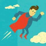 Rétro super héros Image libre de droits