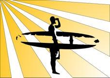 Rétro surfposter Photos libres de droits