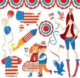 rétro symbolics national américain illustration de vecteur
