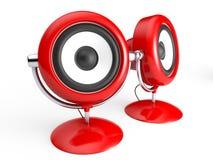Rétro système de haut-parleur Images libres de droits
