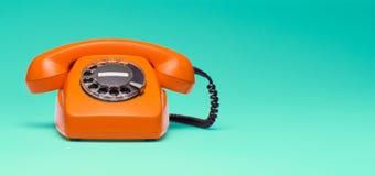 Rétro téléphone dénommé Image stock