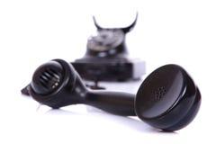 Rétro téléphone d'isolement Photographie stock libre de droits