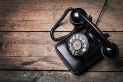 Rétro téléphone de cadran de style Images stock