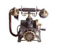Rétro téléphone de cru d'isolement Images libres de droits