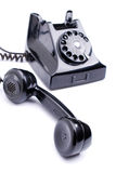 Rétro téléphone noir photographie stock