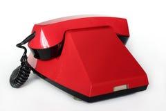 Rétro téléphone rouge Photographie stock libre de droits