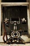 Rétro téléphone - téléphone de cru Image libre de droits