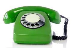 Rétro téléphone vert Images libres de droits
