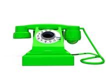 Rétro téléphone vert Photo stock