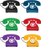 Rétro téléphones illustration stock