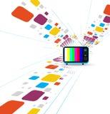 Rétro télévision Images libres de droits
