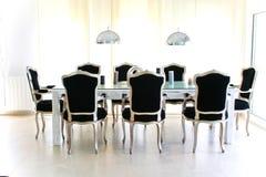 Rétro table de dîner baroque Images stock