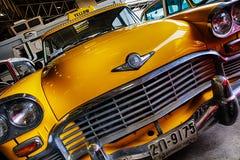 Rétro taxi américain Images libres de droits