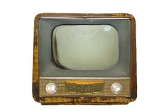 Rétro televison Photographie stock libre de droits