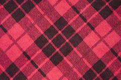 Rétro texture d'un tissu écossais Images stock