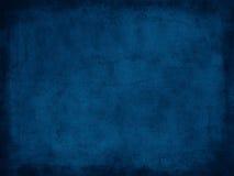 Rétro texture de papier grunge bleu-foncé avec la frontière image libre de droits