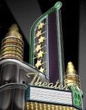 Rétro théâtre au néon illustration libre de droits