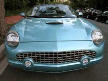 Rétro Thunderbird bleu Images libres de droits